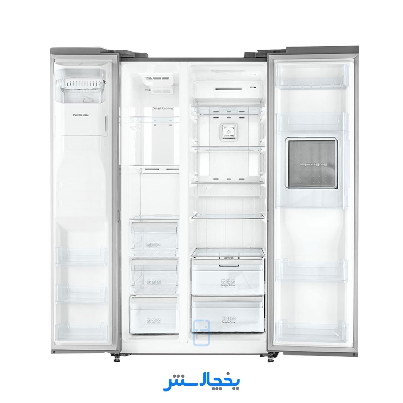 یخچال فریزر ساید بای ساید دوو مدل پرایم D2S-1033MW سفید متالیک