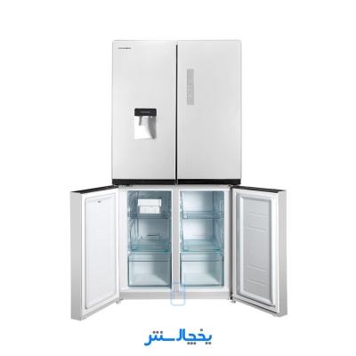 یخچال فریزر ساید بای ساید چهار درب پاکشوما مدل P190 سفید