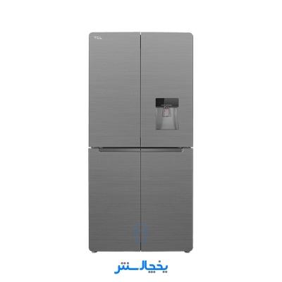 یخچال فریزر ساید بای ساید چهار درب تی سی ال مدل F540-AMD سیلور مات + ارسال رایگان در تهران