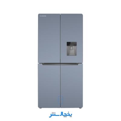 یخچال فریزر ساید بای ساید چهار درب ایکس ویژن مدل TF540-AGD تیتانیوم