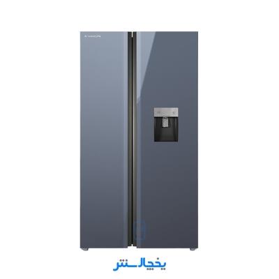 یخچال فریزر ساید بای ساید ایکس ویژن مدل TS665-AGD تیتانیوم