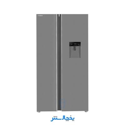 یخچال فریزر ساید بای ساید ایکس ویژن مدل TS665-ASD استیل